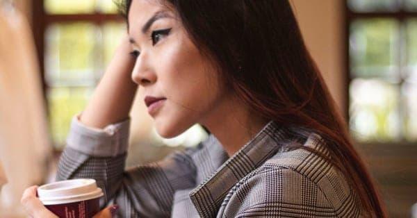 woman coffee