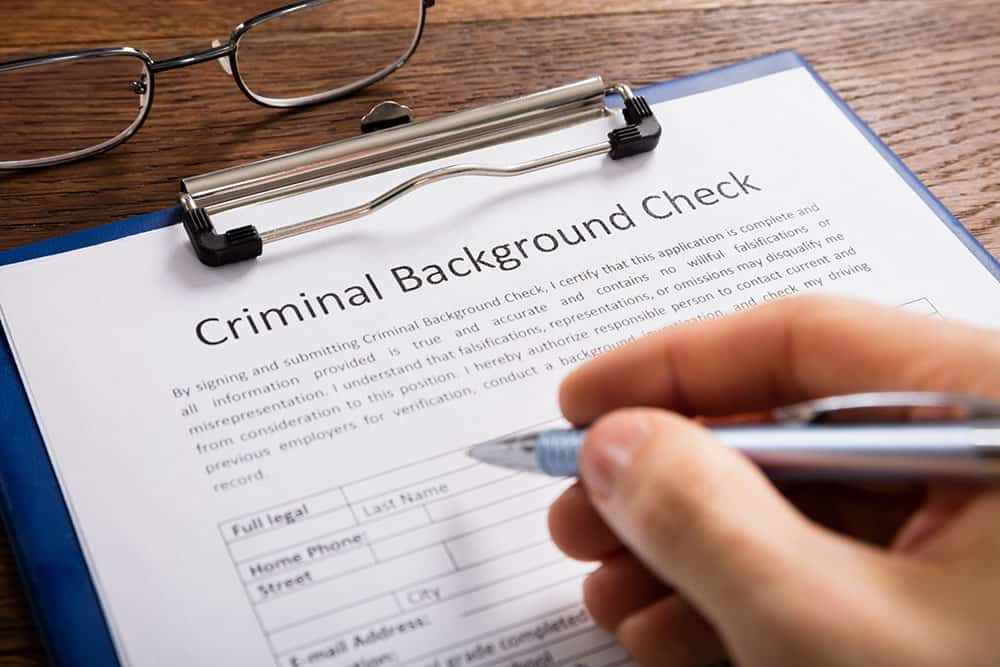 Background check of person