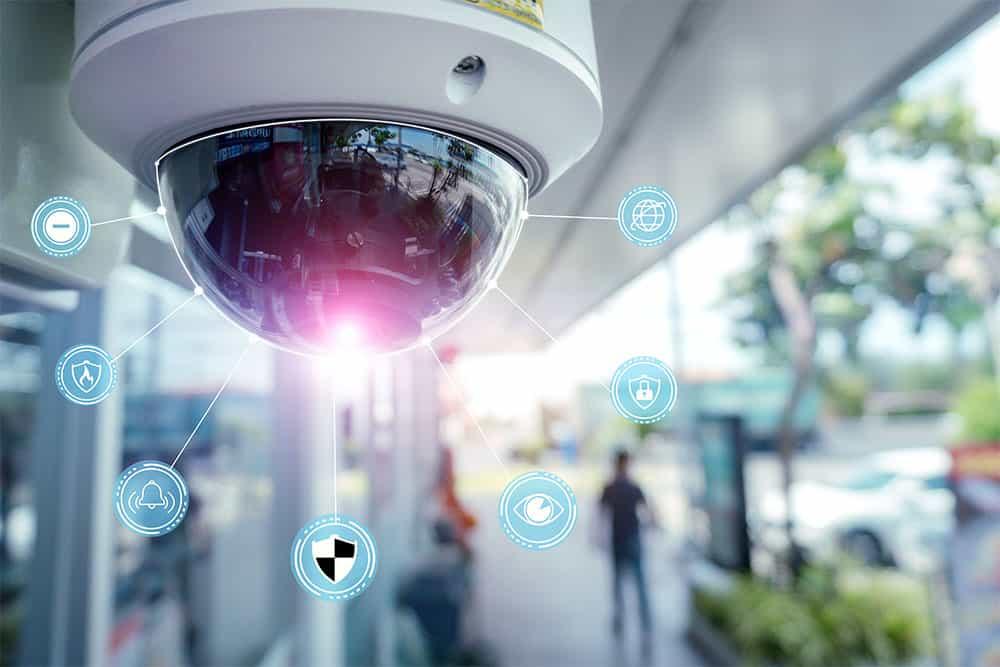 Corporate surveillance camera