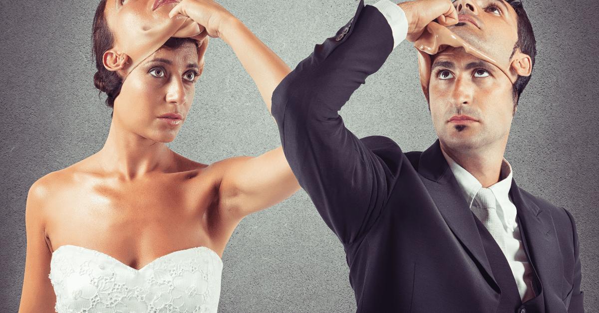 couple putting on masks